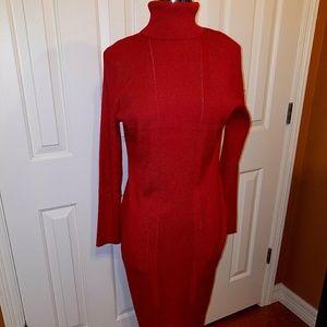 Spense XL red knit women's dress